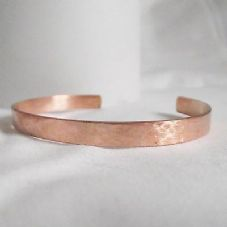 Lovely Handmade Recycled Copper Hammer Finished Cuff Bangle Unique Gift Any size
